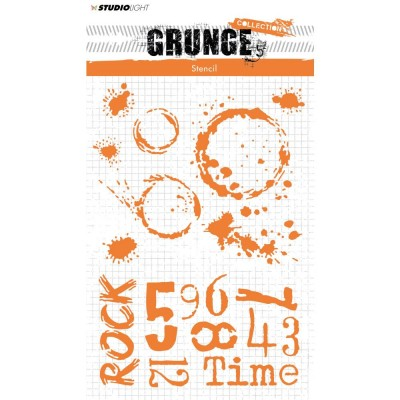 Studio Light - Stencil A5 collection «Grunge #11»