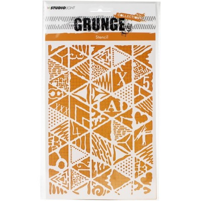 Studio Light - Stencil A5 collection «Grunge #14»