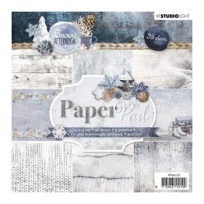 "Studio Light - Bloc de papier collection «Snowy Afternoon» 6"" X 6""  36 feuilles"