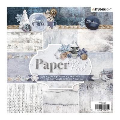 """Studio Light - Bloc de papier collection «Snowy Afternoon» 6"""" X 6""""  36 feuilles"""