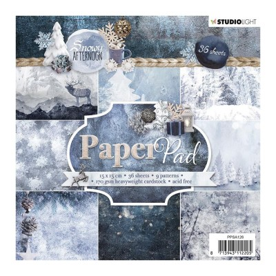 "Studio Light - Bloc de papier collection «Snowy Afternoon #126» 6"" X 6""  36 feuilles"