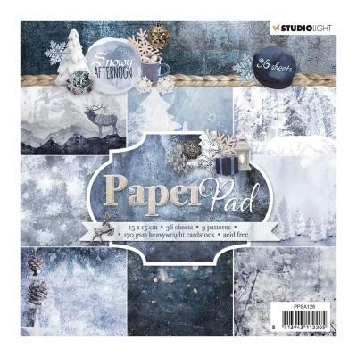 """Studio Light - Bloc de papier collection «Snowy Afternoon #126» 6"""" X 6""""  36 feuilles"""