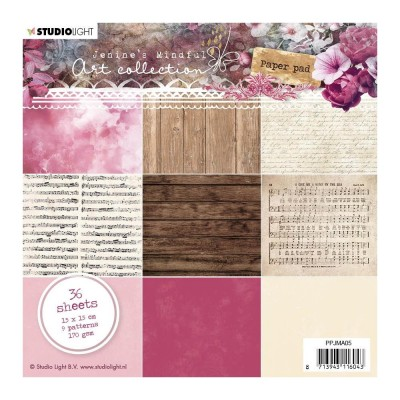 "Studio Light - Bloc de papier  Jenine's Mindful Art 3.0 «NR. 05»  36 feuilles recto  6"" X 6"""
