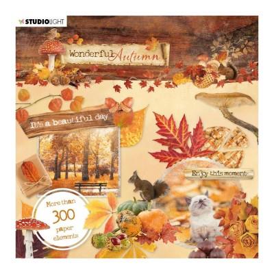 Studio Light - Carnet d'éphéméras «Wonderful Autumn» 300 pièces