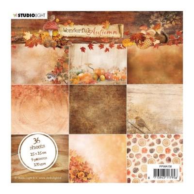 """Studio Light - Collection de papiers «Wonderful Autumn» 6""""X6"""" 36 feuilles"""