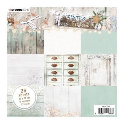 "Studio Light - Collection de papiers «Winter Charm Green» 6""X6"" 36 feuilles"