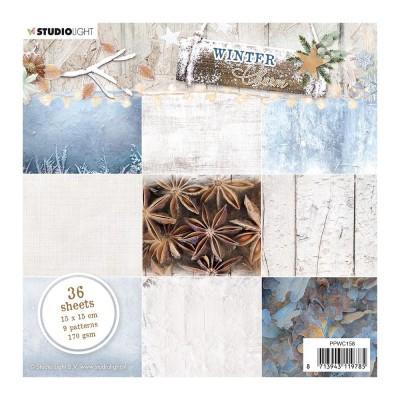 """Studio Light - Collection de papiers «Winter Charm Blue» 6""""X6"""" 36 feuilles"""