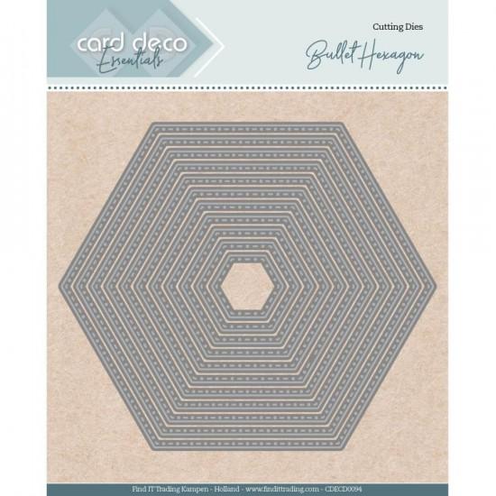 Find It - Dies «Trading Card Deco Essentials» modèle  «Bullet Hexagon» 11 pcs