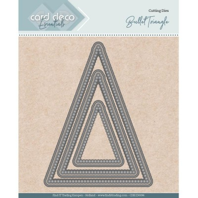 Find It - Dies «Trading Card Deco Essentials» modèle  «Bullet Triangle» 6 pcs