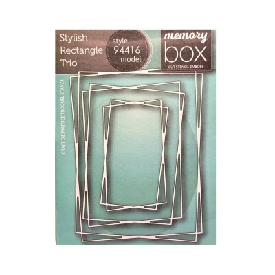 Memory Box - Dies «Stylish Rectangle Trio» 3 pcs