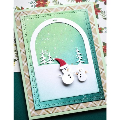 Memory Box - Dies «Snowmen Snowglobe» 4 pcs