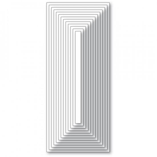 Memory Box - Dies «Slim Basic Rectangle Layers» 13 pcs