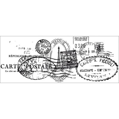 "Kaisercraft - Clear Stamp «Postmarks» 2""X5"""