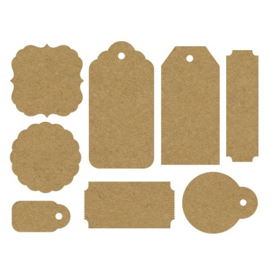 Kaisercraft - Ensemble «Paper Tags & Shapes» 24 pc