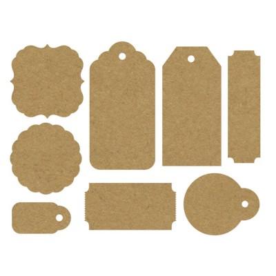Kaisercraft - Ensemble «Paper Tags & Shapes» 24 pc