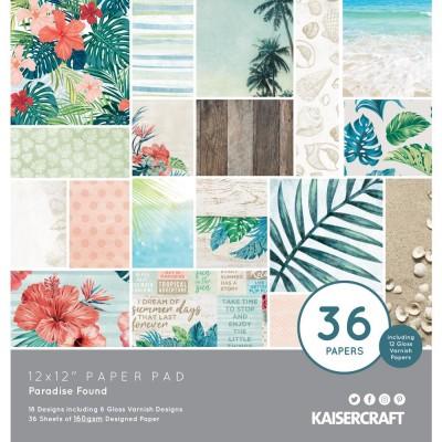 """Kaisercraft - «Paradise Found» Ensemble de papier 12"""" X 12""""  36 feuilles"""