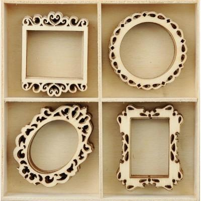 Kaisercraft - Mini-motifs à thème «Frames» 20 pièces