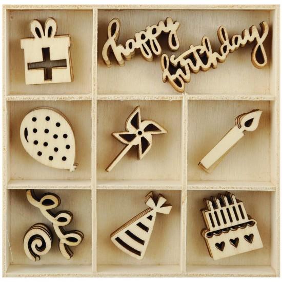 Kaisercraft  - Mini-motifs à thème «Party»  50 pièces