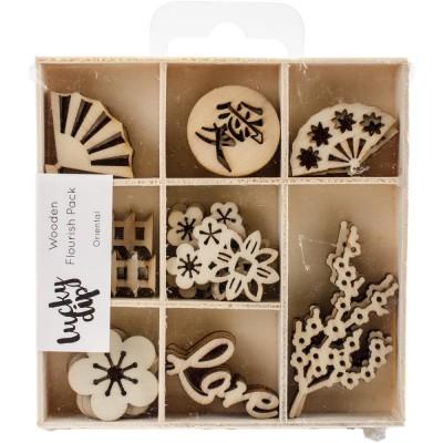 Kaisercraft  - Mini-motifs à thème «Oriental» 40 pièces