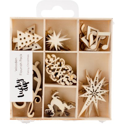 Kaisercraft  - Mini-motifs à thème «Fancy Christmas» 35pièces