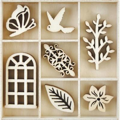 Kaisercraft  - Mini-motifs à thème «Secret Garden» 35 pièces