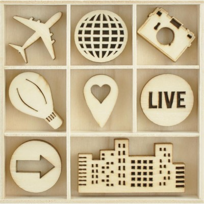 Kaisercraft  - Mini-motifs à thème «Fly Away» 40 pièces
