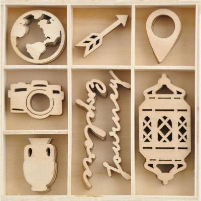 Kaisercraft  - Mini-motifs à thème «Journey» 40 pièces