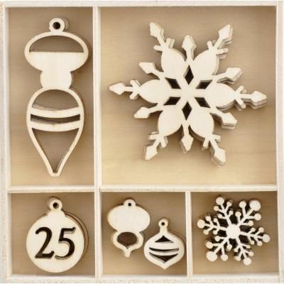 Kaisercraft  - Mini-motifs à thème «Let It Snow» 30 pièces