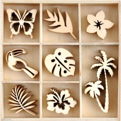 Kaisercraft  - Mini-motifs à thème «Sunkissed» 40 pièces