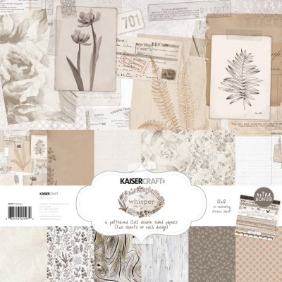 "Kaisercraft - Ensemble de papier ""Whisper"" 12""X12"" de 12 feuilles"
