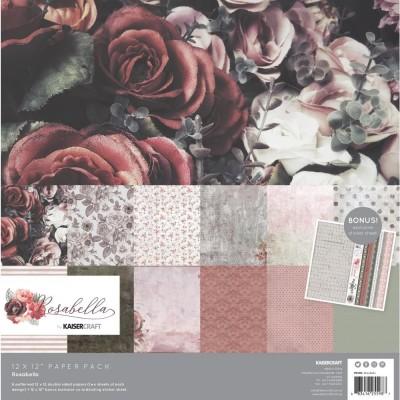 "Kaisercraft - «Rosabella» Ensemble de papier 12"" X 12""  12 feuilles"