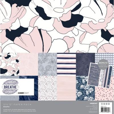 "Kaisercraft - Ensemble de papier «Breathe» 12""X12"" de 12 feuilles"