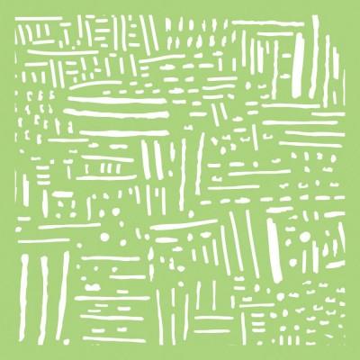 """Kaisercraft- Stencil «Line Art» 6"""" X 6"""""""