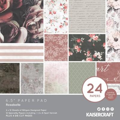"""Kaisercraft - Bloc de papier «Rosabella»  6.5""""X6.5"""" 40 pages"""