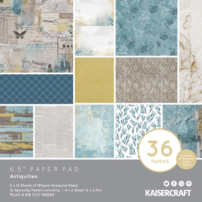 "Kaisercraft - Bloc de papier «Antiquities»  6"" X 6"" 36pages"