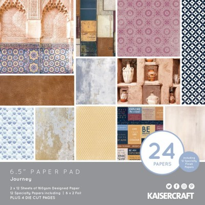 "Kaisercraft - Bloc de papier «Journey»  6.5""X6.5"" 36 pages"