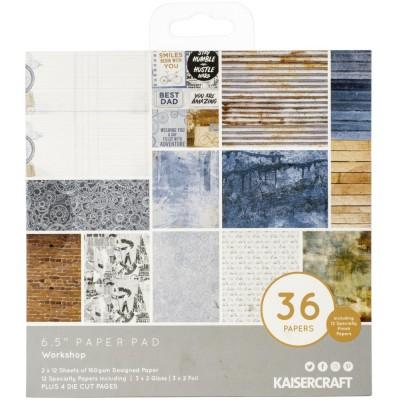 """Kaisercraft - Bloc de papier «Workshop»  6.5"""" X 6.5"""" 36 pages"""