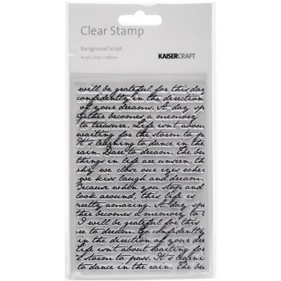 "Kaisercraft - Clear Stamp 4""X6"" «Script»"