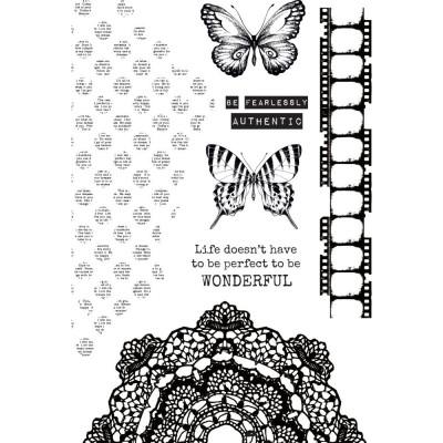 """Kaisercraft - Clear Stamps Scrap Studio 4""""X6"""" Ensemble de 6 pièces"""