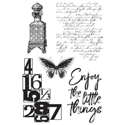 "Kaisercraft - Clear Stamps 4""X6"" «Antiquities» ensemble 5 pièces"