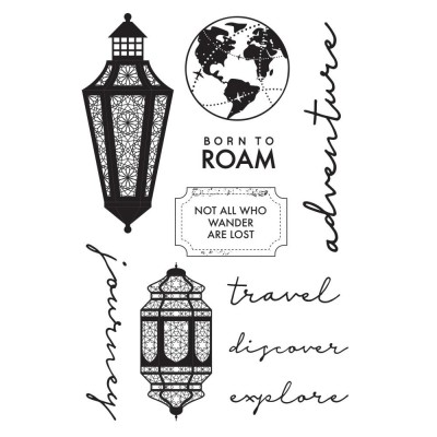 "Kaisercraft - Clear Stamps collection «Journey» 4""X6"" Ensemble de 10 pièces"