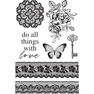 "Kaisercraft - Clear Stamps 4""X6"" «Lady Like» ensemble 7 pièces"