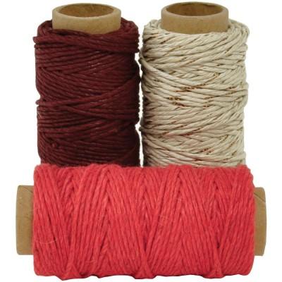 Kaisercraft - Lucky dip ensemble de 3 rouleaux de corde en jute 1 mm