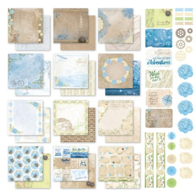 """Couture Creations - Ensemble de  papier «New aventures»  12"""" X 12"""" double face  12 feuilles"""