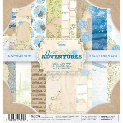 "Couture Creations - Bloc de  papier double face «New Adventures»  6.5"" X 6.5""   24 feuilles"