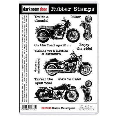Darkroom Door - Estampe «Classic Motorcycle»