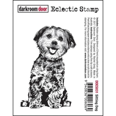 "Darkroom Door - Estampe «Sitting Dog» 3""X 2"""