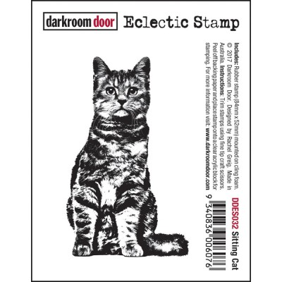 Darkroom Door - Estampe «Sitting Cat»