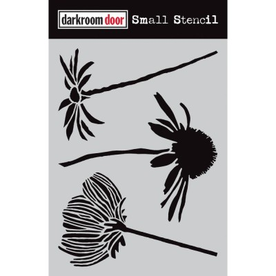 "Darkroom Door - Stencil «Carved Flowers»    4.5"" X 6"""