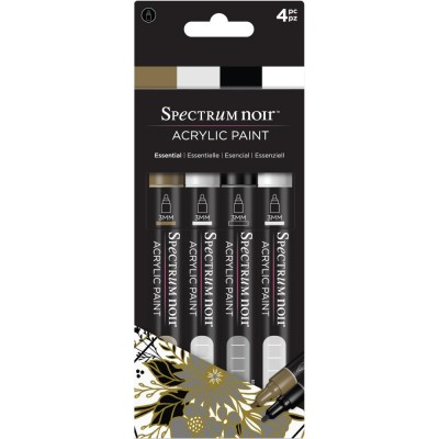 Crafter's Companion - Spectrum Noir marqueurs  «Peinture acrylique» couleurs «Essential»